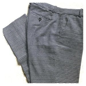 JCrew Navy and White cotton tweed pants